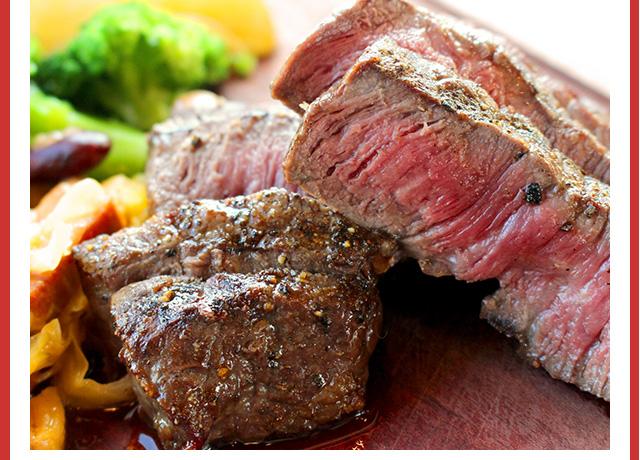 ステーキに