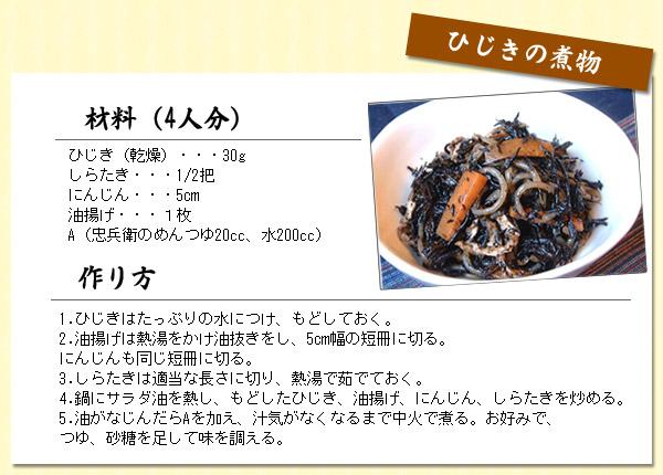 ひじきの煮物(4人分)簡単レシピ